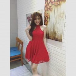 Đầm ren ngắn