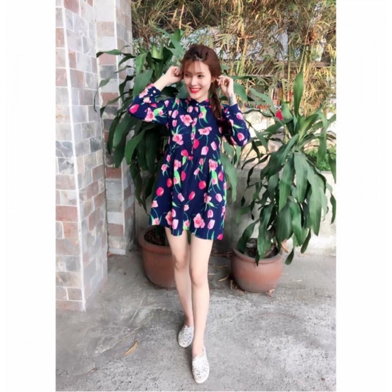 Robe à motif fleur 108