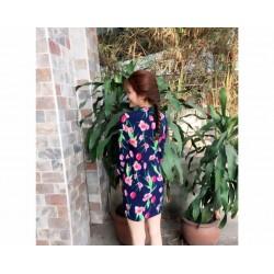 Robe à motif fleur 109