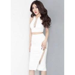 Đầm trắng dung biez sexy