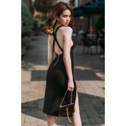 Đầm sexy xẻ tà ngọc trinh 145