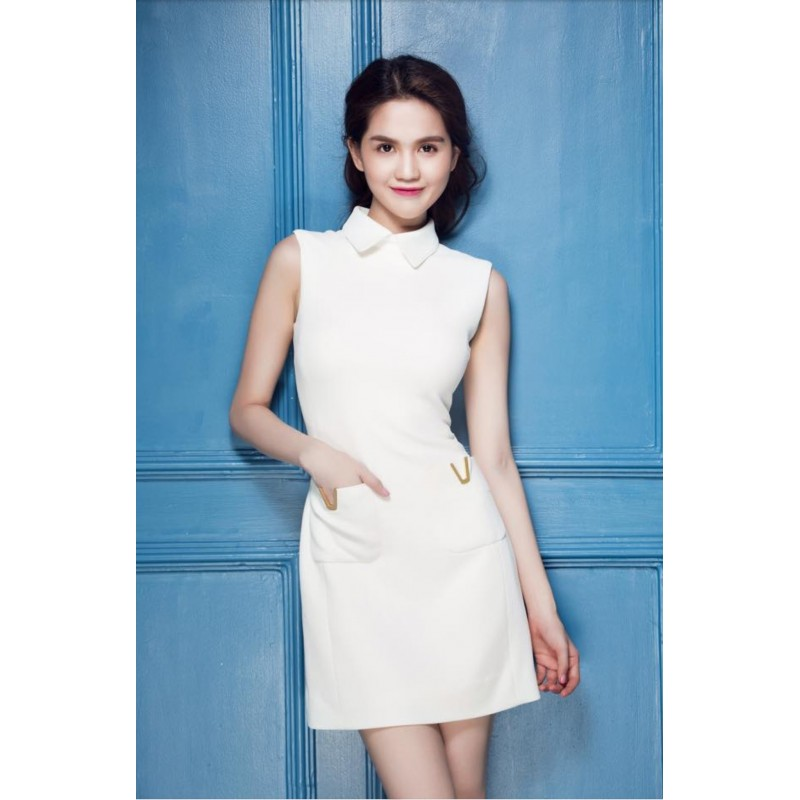 Robe blanche Ngoc Trinh