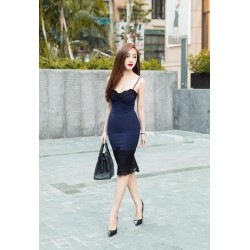 Dark blue dress 255