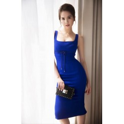 Blue bodycon dress 302