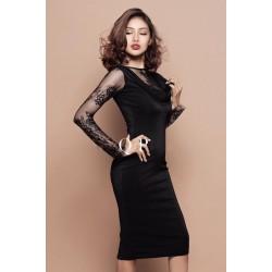 Evening black dress 320