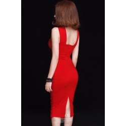 Robe rouge sexy 346