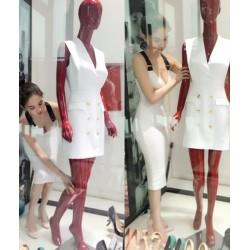 Robe blanche élégante 379