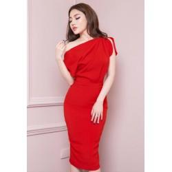 Bright red dress 401