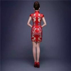 Đầm thêu hình rồng hongkong 410
