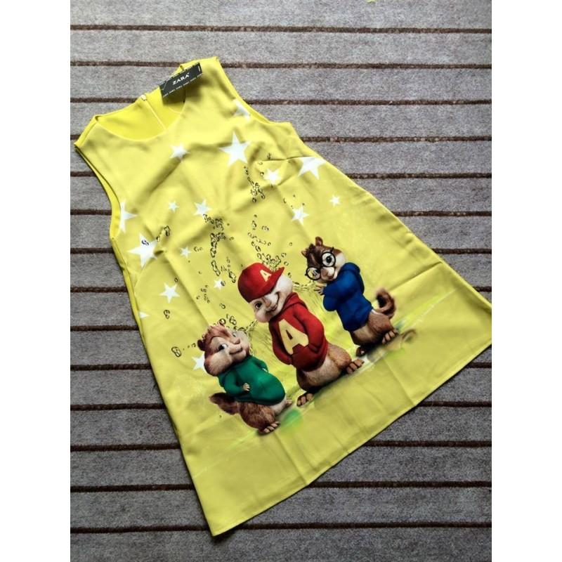 Colorful printed dress 425