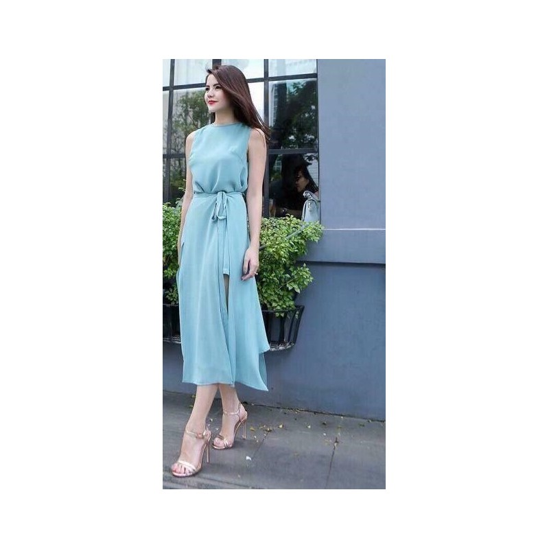 Đầm maxi xanh dao pho 84