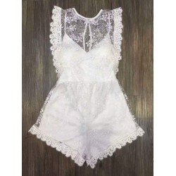 Lace jumpsuit dress